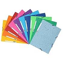 Exacompta 55510E - Carpetas con gomas y 3 solapas de cartulina lustrada, A4, colores surtidos, 10 unidades