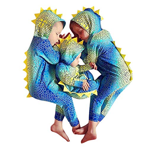 Clearance Sale!UMFun Infant Baby Girls Boys Cartoon Dinosaur Gradient Color Hooded Romper Outfits (0~6 Months)]()
