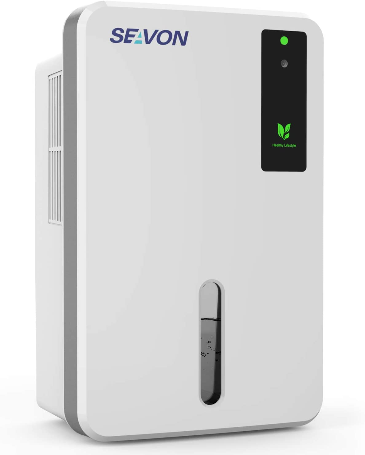 SEAVON Upgraded Dehumidifier for 2500 Cubic Feet(280 sq ft), 50oz(1500ml) Capacity, Portable, Compact and Quiet Dehumidifiers for Home, Basements, Bedroom, Bathroom, Garage, RV with Auto Shut Off.