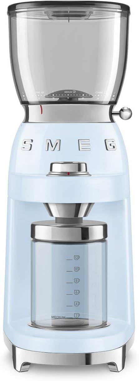 Smeg 50's Retro Style Aesthetic Coffee Grinder, CGF01 (Pastel Blue)