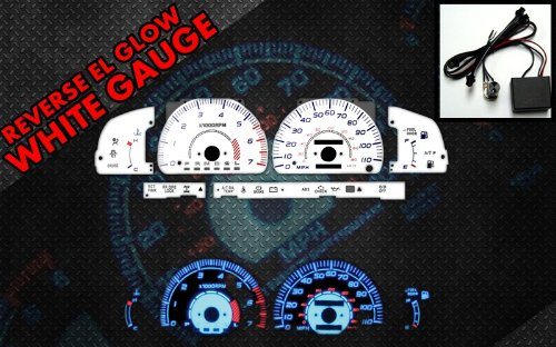 Glow White Face Reverse Gauges - 4