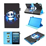 Fire HD 8 Case (2016/2017 Release),Chgdss Cartoon Cute Case, [Auto Wake/Sleep ]Multi-Angle Viewing/Card Slots,Flip Leather Case with Stand Feature,for Amazon Kindle Fire HD 8 (2016/2017),Music Panda