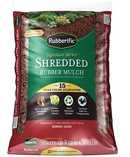 Rubberific Lrm8rd Rubber Mulch, Redwood