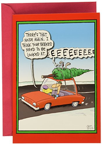 NobleWorks ''Screaming Tree'' Funny Merry Christmas Greeting Card, 5'' x 7'' (1883)