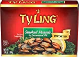 Ty Ling Smoked Mussels, 3.66-Ounce Cans (Pack of 10)