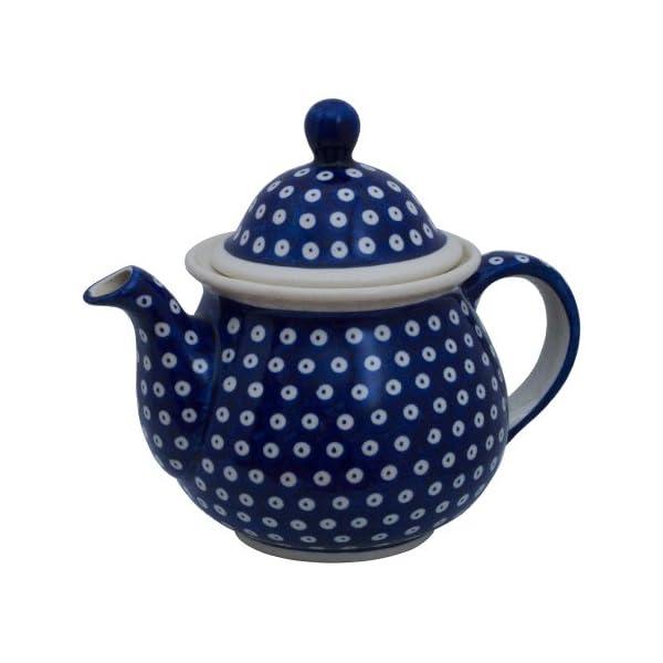 Polish Pottery Boleslawiec Big Teapot, 1.7L in TADPOLE pattern