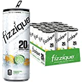 Fizzique Sparkling Protein Water, Tropical Limon, 12 Count