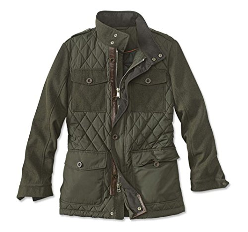 Orvis Quilted Jacket - Orvis Men's Quilted Om65 Jacket, Olive, X Large