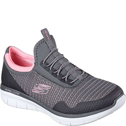 Skechers Sport Synergy 2.0-Mirror Image Women's Slip On 8 B(M) US Charcoal-Coral (Image Womens)