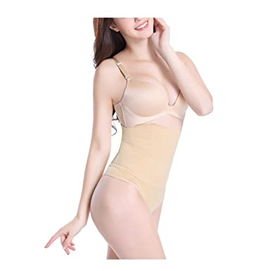 52d11aa4a9b Zarbrina Women Waist Cincher Girdle Tummy Slimmer Sexy Thong Panty Shapewear  Control Body Underwear Slimming Panties at Amazon Women s Clothing store