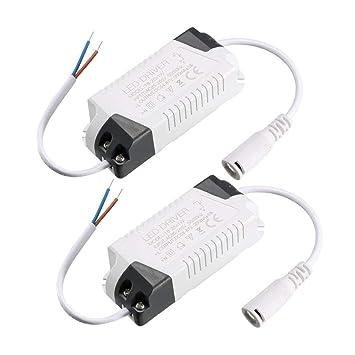 1pcs Constante corriente 300 mAh LED de alta potencia controlador DC Conector de alimentaci/ón externa LED l/ámpara de techo rectificador transformador 8-12W Sourcingmap