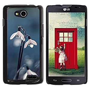 Paccase / SLIM PC / Aliminium Casa Carcasa Funda Case Cover para - Snow Flower Dew Spring Winter Blue - LG OPTIMUS L90 / D415