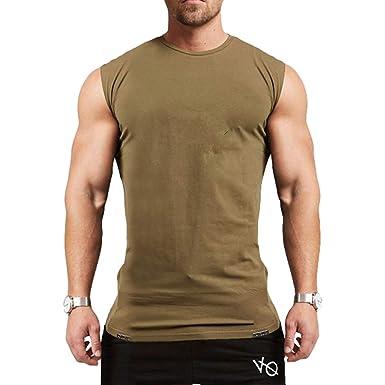 JiXuan Hommes Muslce Gilet Débardeurs Bodybuilding Fitness Hommes Coton  Singlets O-Cou Shirt Homme Chemise sans Manches  Amazon.fr  Vêtements et  accessoires fddad59b18d