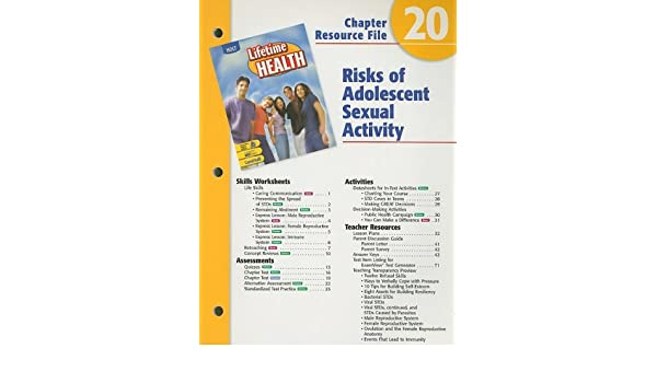 Holt Lifetime Health Chapter 20 Resource File Risks Of