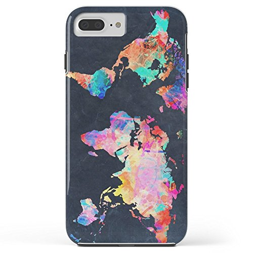 Roses Garden Phone Case Protectivedesign Cell Case World Map Tough Case for iPhone 7 Plus from Roses Garden's Cell Case