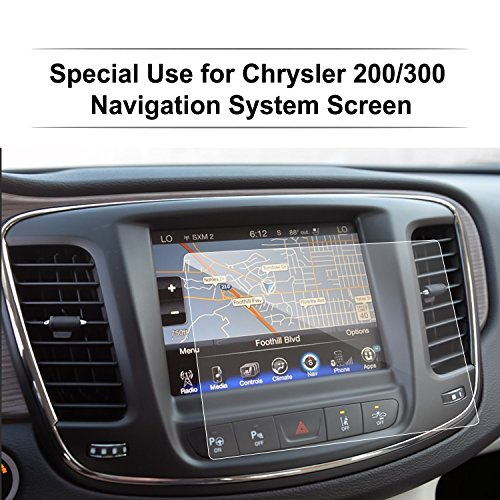 Chrysler 200 / 300 / Pacifica 8.4 Inch Glass Car Navigation Screen Protector, LFOTPP [9H] Tempered Glass Infotainment Center Touch Screen Protector Anti Scratch High Clarity