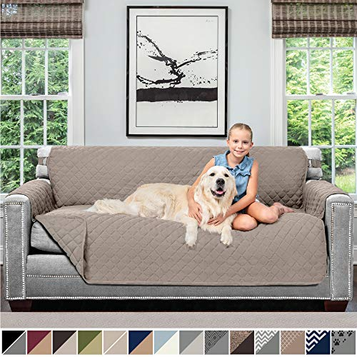 Sofa Shield Original Patent Pending Reversible Sofa Slipcover, Dogs, 2