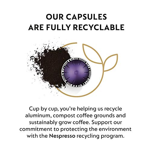 Nespresso Capsules VertuoLine , Intense Variety Pack, Dark Roast Coffee, 40 Count Coffee Pods, Brews 7.8 and 1.35 Ounce
