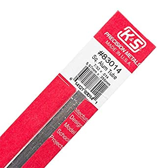7//32 OD x 0.014 Wall Thickness x 12 Length Made in USA 0.2188 in OD K/&S Precision Metals 83014 Square Aluminum Tube 1 pc