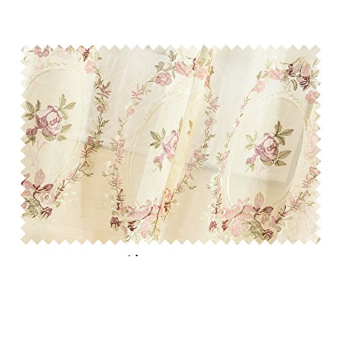 Curtain Living room,European Thorn Embroidery High shade Cloth Bedroom 1 piece-AS ()