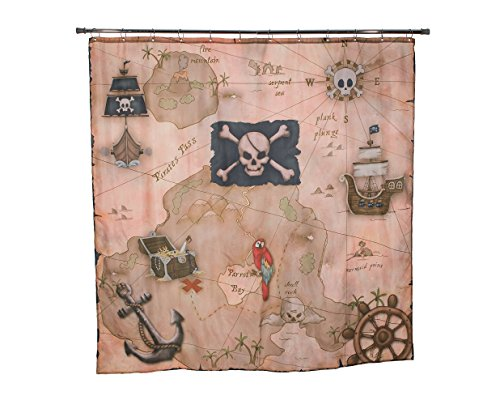 treasure map shower curtain - 4