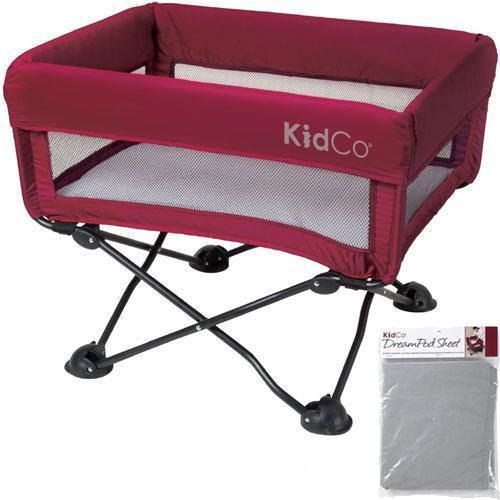 KidCo - DreamPod Portable Bassinet with Extra Sheet - Cranberry by KidCo