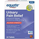 Equate Urinary Pain Relief Maximum Strength, 24 Tablets (Compare Azo Urinary Pain Relief)