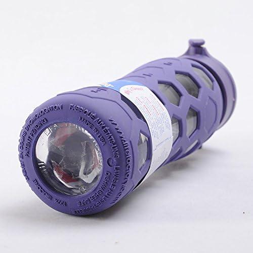 Life factory botella de vidrio con tapa, 6.98 x 6.98 x 25.4 cm ...
