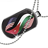 Dogtag Friendship Flags USA and Jordan Dog tags necklace - Neonblond
