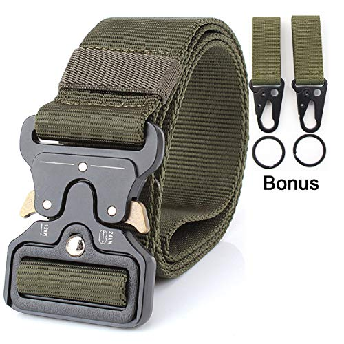 Mensbeltee Riggers Tactical Belt Emergency Waist Military CQB Belt EDC Hunting Shooting Tactical Activities (Green)