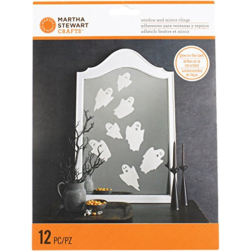 Martha Stewart M4820348 Monsters Mirror Cling, Ghost, -
