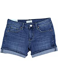 Womens Rolled Cuff Denim Shorts