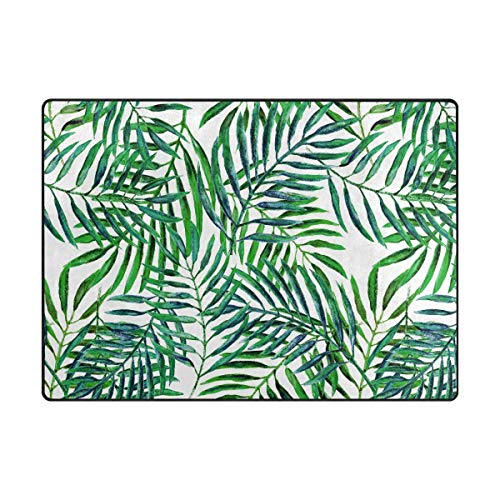 Area Rug Carpet Floor Mat, Palm Tree Super Soft Non-Slip Floor Rugs Nursery Play Mat Yoga Pads for Women Kids Toddlers Home Decor 4'x6' (Cushions Springs Patio Custom Palm)