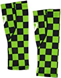 ASICS Checker Printed Calf Sleeve, Black, Medium