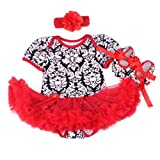 A Set Doll Clothes for 20 - 22 inch Doll Baby Girl Clothing Matching flower Tutu Dress