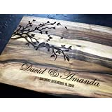 Couple Love Personalized Engraved Cutting Board- Wedding Gift, Anniversary Gifts, Birds Brunch Housewarming Gift, Christmas Gift, Corporate Gift, Award, Promotion Lovebirds