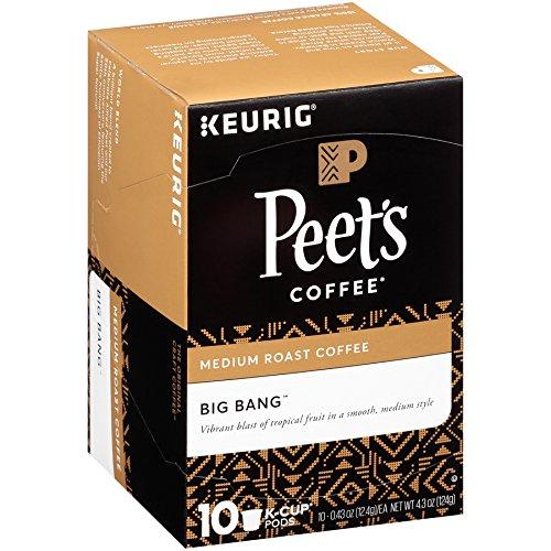 Keurig Medium Coffee Roast (Peet's Coffee K-Cup Packs Big Bang Medium Roast Coffee 10 Count (Pack of 4))