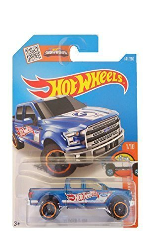 Hot Wheels 2016 HW Hot Trucks '15 Ford F-150 141/250, (Blue Ford Truck)
