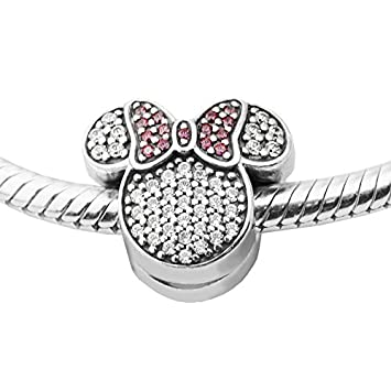 70f80226a Amazon.com: Fits Pandora Bracelet 2016 Winter Christmas Mouse Ears Charm  Clear CZ 925 Sterling Silver Jewelry DIY Charm Wholesale: Arts, Crafts &  Sewing