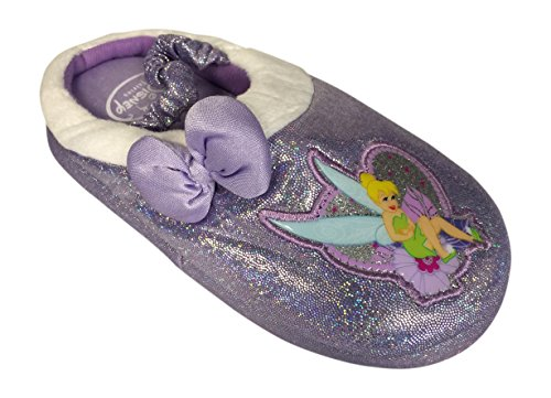Disney Tinkerbell Tinker Bell Slippers Shoes US Toddler Size 11-12 Purple ()