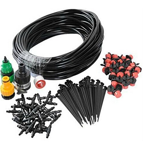Choolle - Quality DIY Micro Drip Irrigation System Gardening Drip Irrigation 25M Hose 30Drippers Automatic Plant Garden Watering Kit by Choolle
