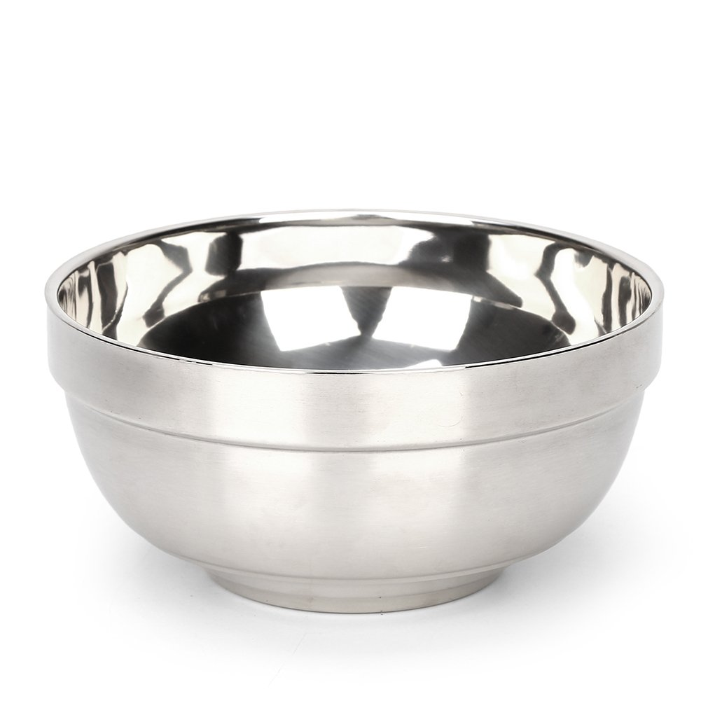 RushGo Stainless Steel Bowl Set Insulated Cereal/Soup Bowl 25oz Set of 5
