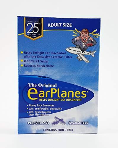 EarPlanes Ear Plugs 1 Pair (Pack of 3)