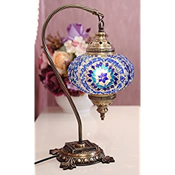 Turkish lamp mosaic lamp table lamp mosaic lamps moroccan new bosphorus stunning handmade swan neck turkish moroccan mosaic glass table desk bedside lamp light with bronze base blue aloadofball Images