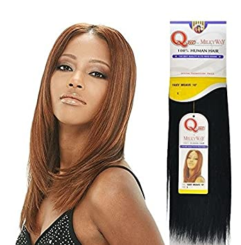 "Amazon.com : MILKYWAY HUMAN HAIR QUE YAKY WEAVE 144"" #14B : Hair ..."