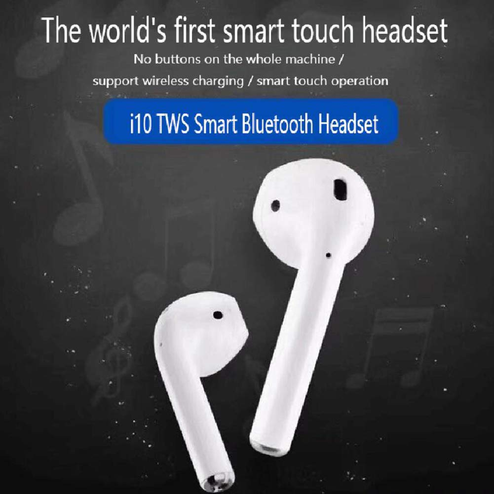Amazon.com: HeavFYj i10 TWS Mini Wireless Bluetooth 5.0 Touch Earphone Earbuds Headset with Charging Box Mic: Electronics