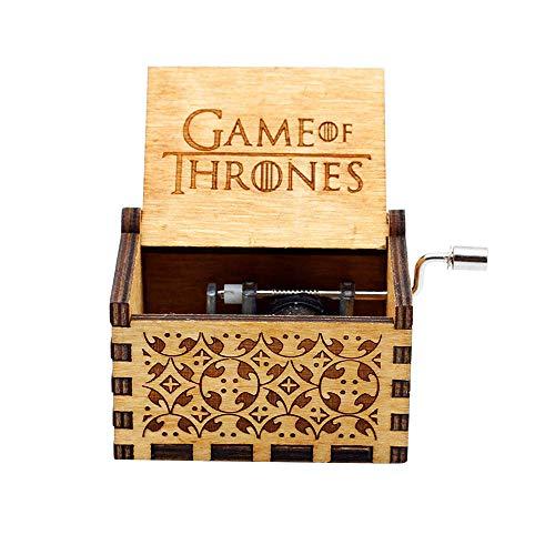 LA-PIN Caja Musical de Madera de, Caja de música de Madera Tallada a Mano, diseño de cangrejos, Star Wars Main Theme