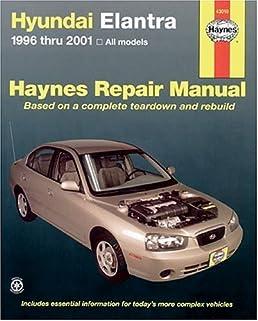haynes hyundai elantra 1996 thru 2001 haynes manuals larry warren rh amazon com 2000 hyundai elantra owners manual word 2000 hyundai elantra owners manual free