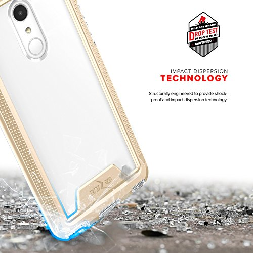 Zizo ION Series compatible with LG Stylo 4 Case Military Grade Drop Tested with Tempered Glass Screen Protector GOLD CLEAR by Zizo (Image #5)