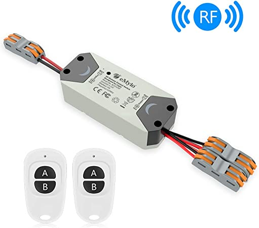 Relay Switch 433M Module 12V 2-Channel Radio Switch 50m White Remote Control